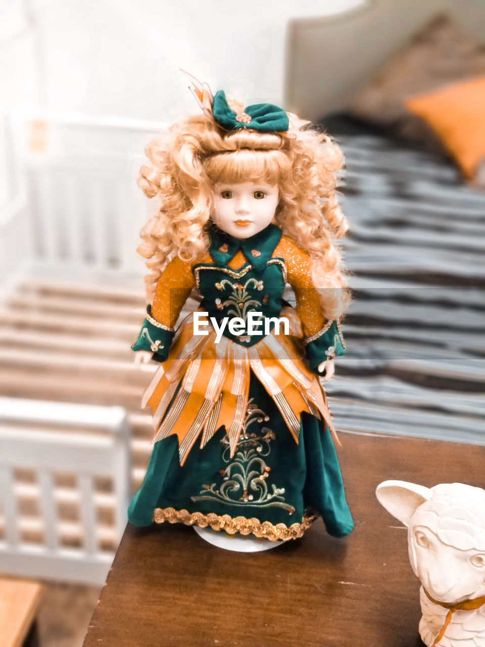 indoors, representation, human representation, no people, figurine, art and craft, table, creativity, focus on foreground, still life, craft, celebration, close-up, toy, multi colored, decoration, female likeness, doll, angel