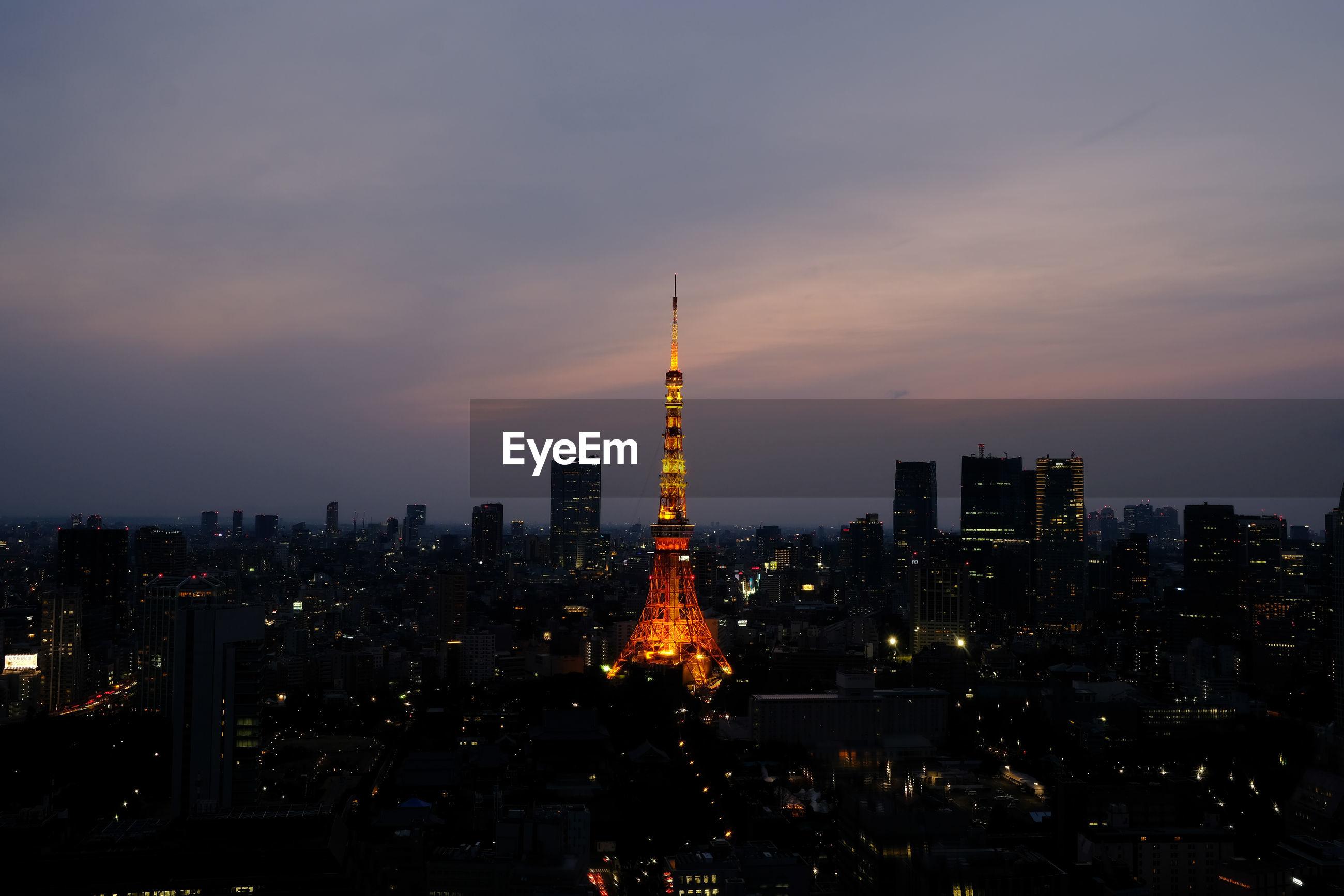 VIEW OF CITY AT NIGHT