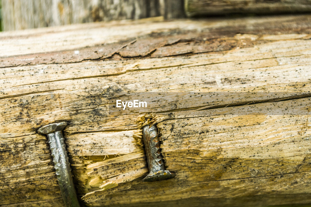 wood - material, no people, close-up, day, textured, old, outdoors, architecture, craft, metal, safety, focus on foreground, security, animal, protection, pattern, nature, wood, animal themes
