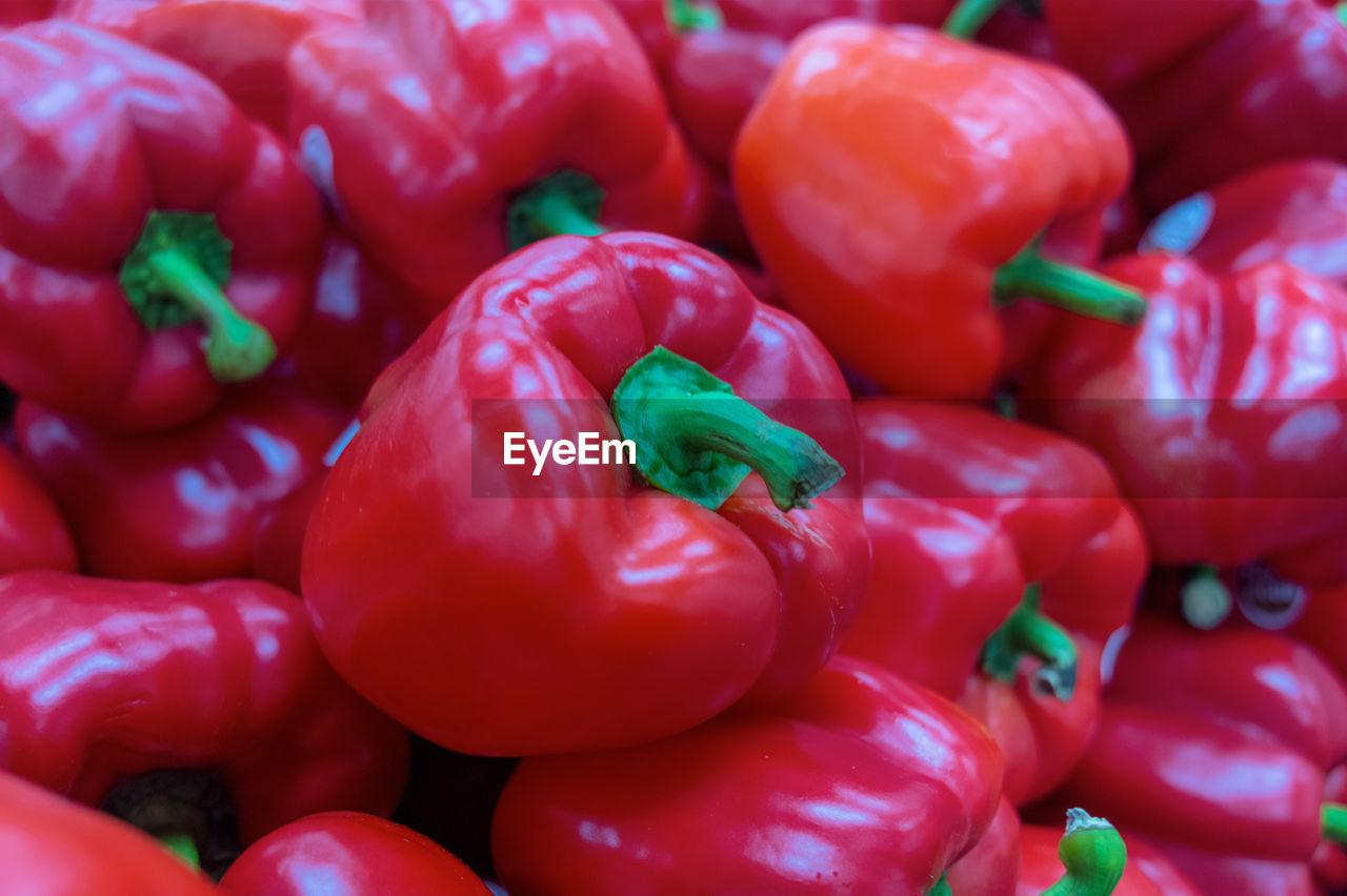 Full Frame Shot Of Red Bell Peppers