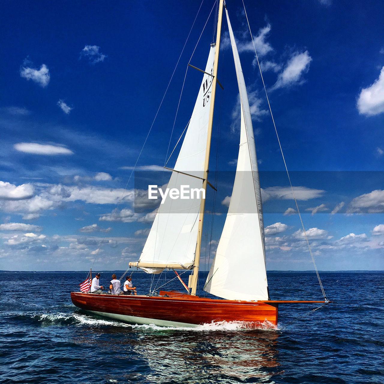 SAILBOAT IN CALM SEA