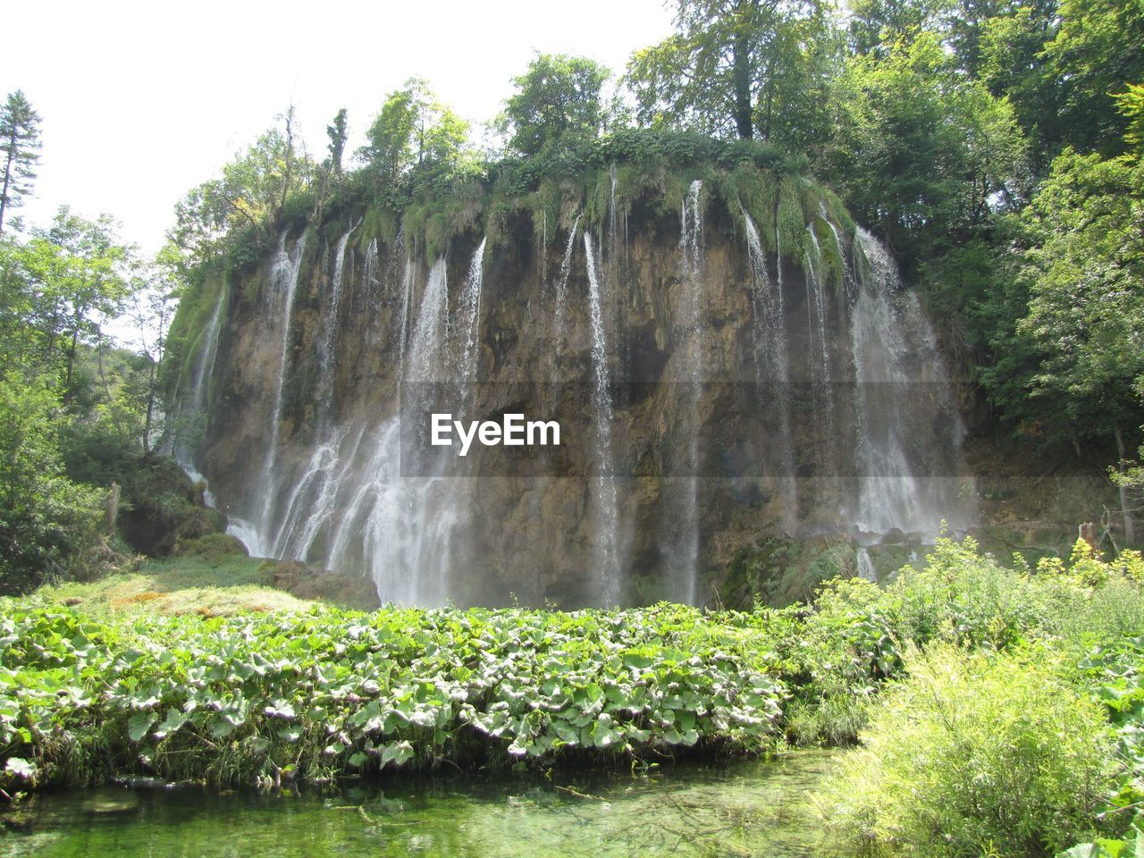 Low Angle View Of Waterfalls At Plitvice Lakes National Park
