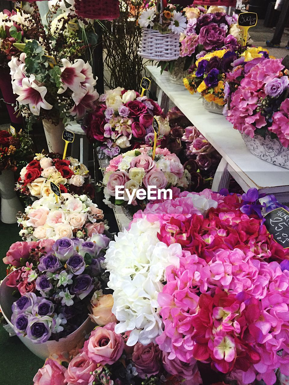 flower, retail, bouquet, variation, flower shop, choice, small business, for sale, flower market, retail display, multi colored, fragility, market, arrangement, freshness, consumerism, abundance, no people, day, beauty in nature, nature, close-up, outdoors, business, flower head, florist