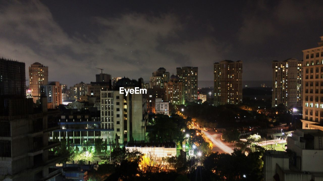 architecture, building exterior, illuminated, city, cityscape, night, built structure, sky, no people, skyscraper, outdoors, modern