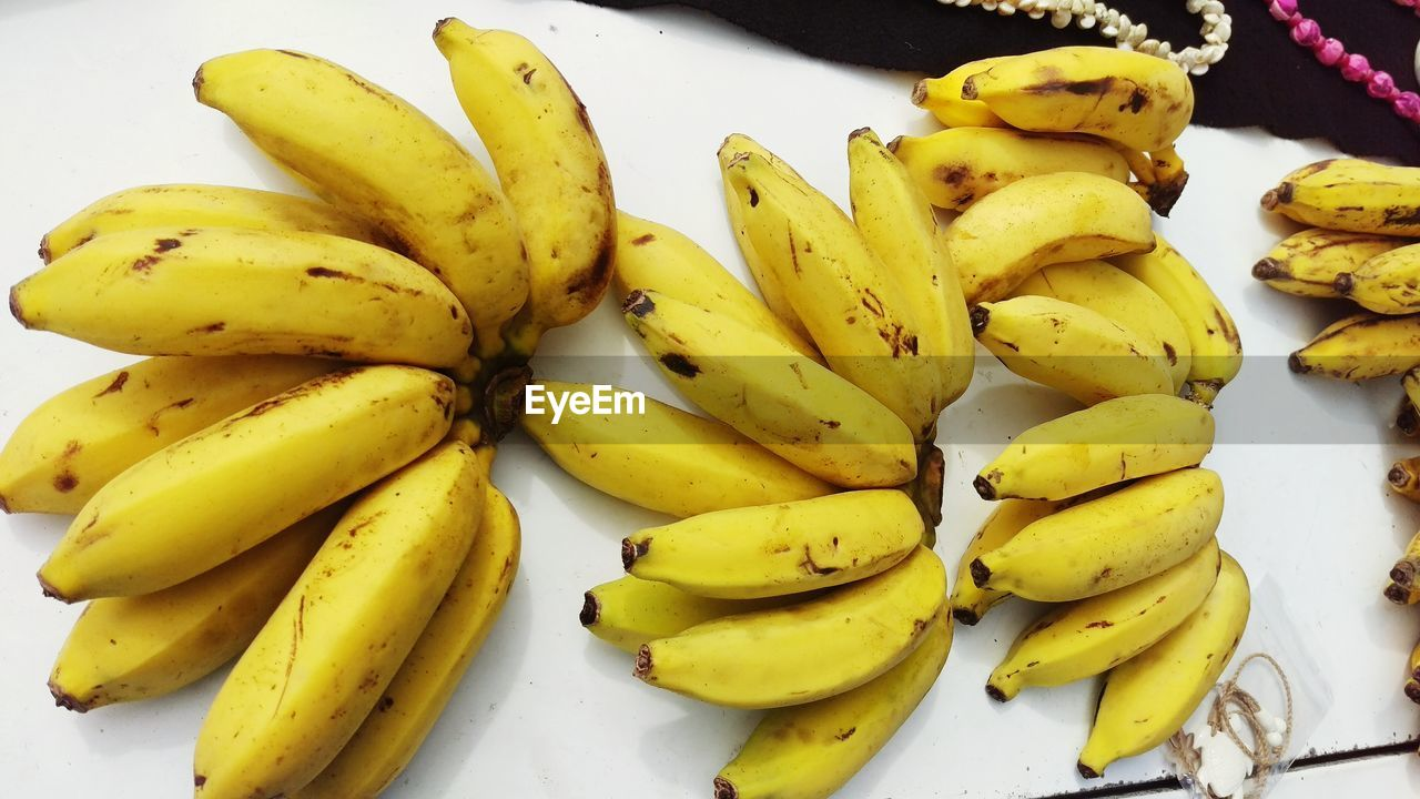 High Angle View Of Bananas For Sale At Market Stall