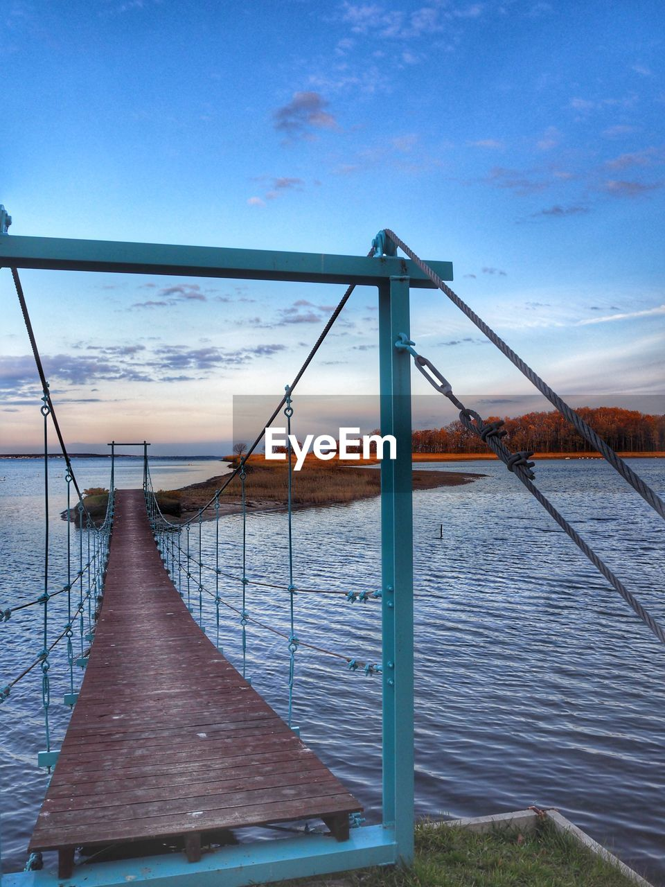 sky, water, cloud - sky, nature, no people, architecture, day, built structure, tranquility, tranquil scene, railing, beauty in nature, scenics - nature, metal, outdoors, connection, pier, sea, bridge