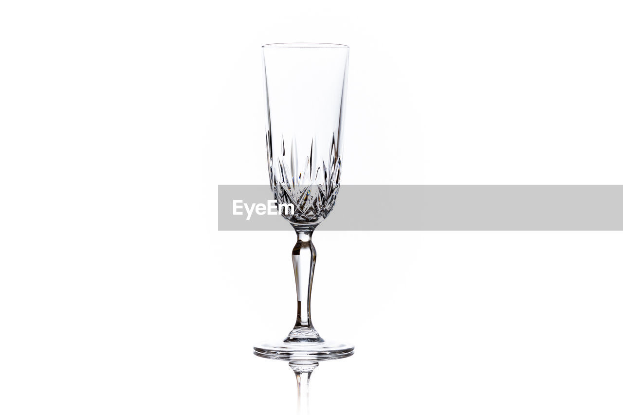 glass, studio shot, white background, drink, refreshment, wineglass, copy space, no people, drinking glass, indoors, food and drink, household equipment, cut out, alcohol, still life, wine, transparent, close-up, freshness, clean