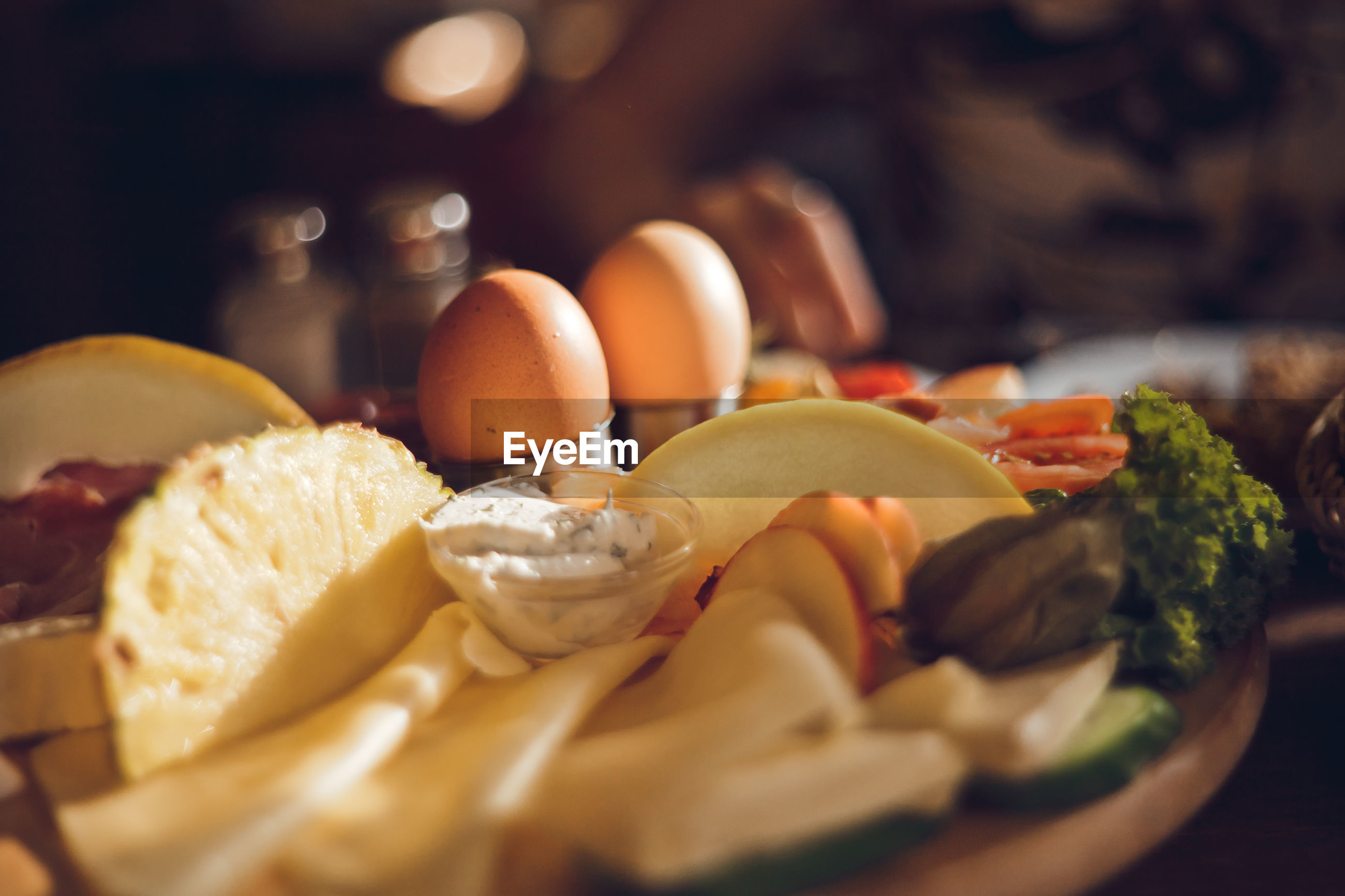 Close-up of food in plate