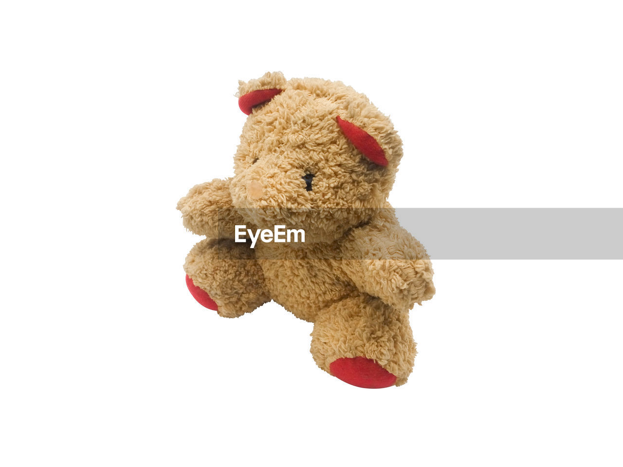 teddy bear, toy, stuffed toy, studio shot, white background, indoors, animal representation, childhood, cut out, still life, single object, close-up, representation, copy space, toy animal, red, softness, healthcare and medicine, brown, innocence