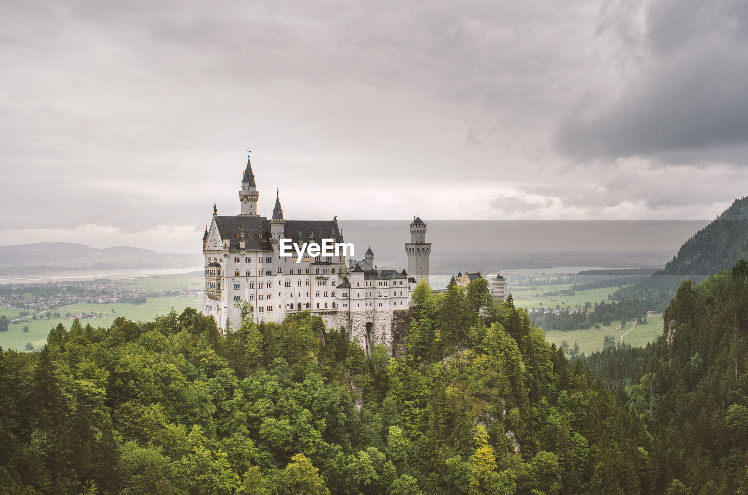 tree, plant, cloud - sky, sky, built structure, building exterior, nature, architecture, no people, building, growth, history, the past, green color, travel destinations, day, castle, travel, outdoors, beauty in nature