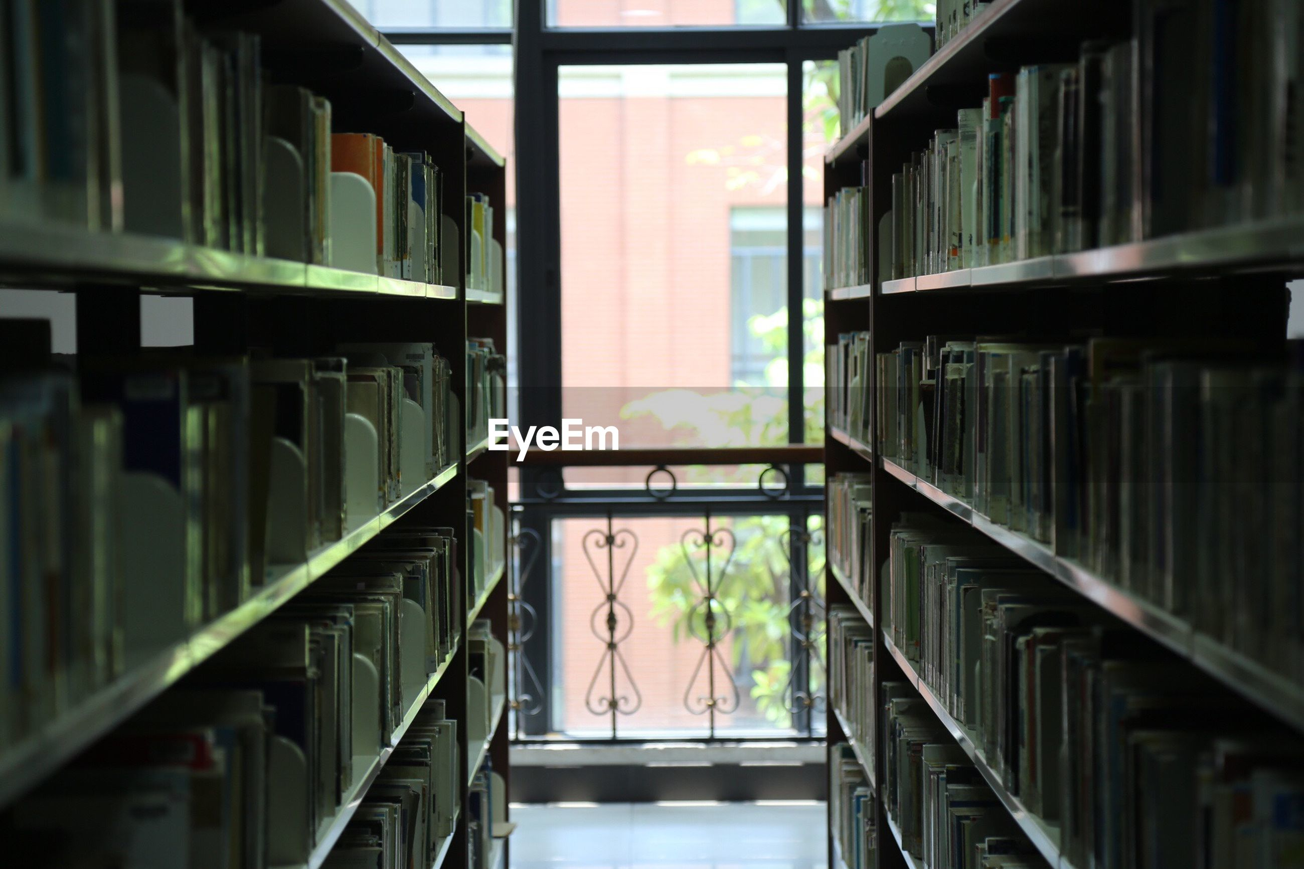 Close-up of books in library