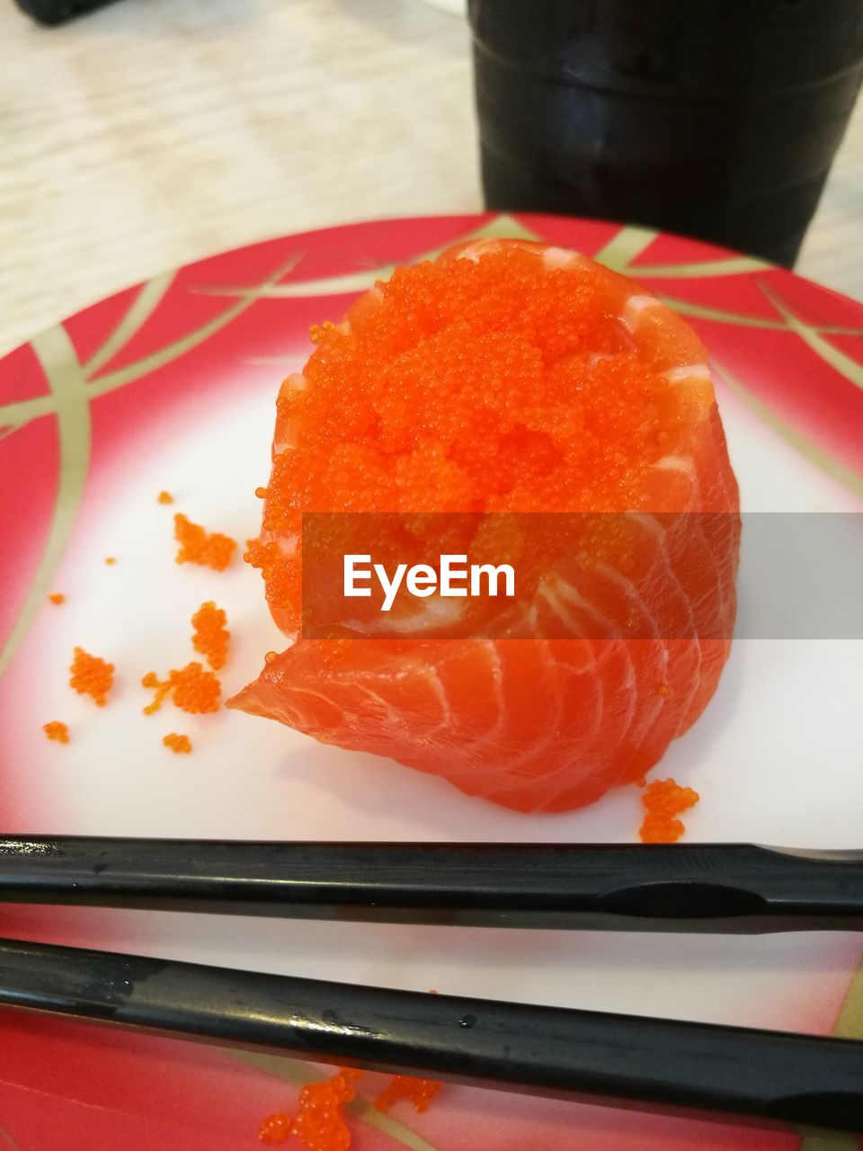 food and drink, food, freshness, close-up, indoors, still life, ready-to-eat, no people, plate, table, japanese food, healthy eating, seafood, meat, serving size, orange color, asian food, high angle view, wellbeing, snack, caviar