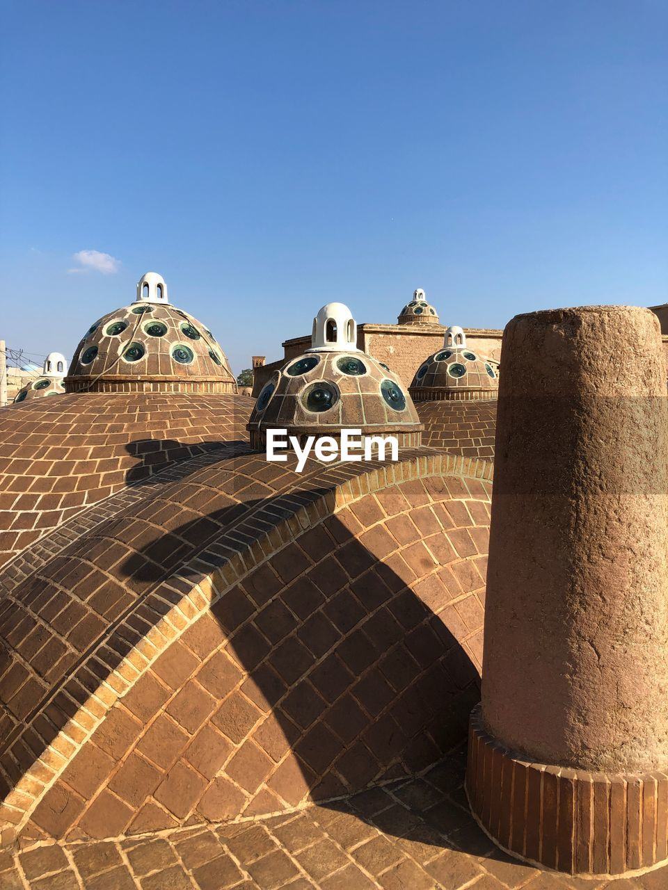 sky, built structure, architecture, clear sky, building exterior, nature, sunlight, no people, day, travel destinations, blue, tourism, building, the past, history, travel, copy space, shadow, outdoors, spirituality, ancient civilization