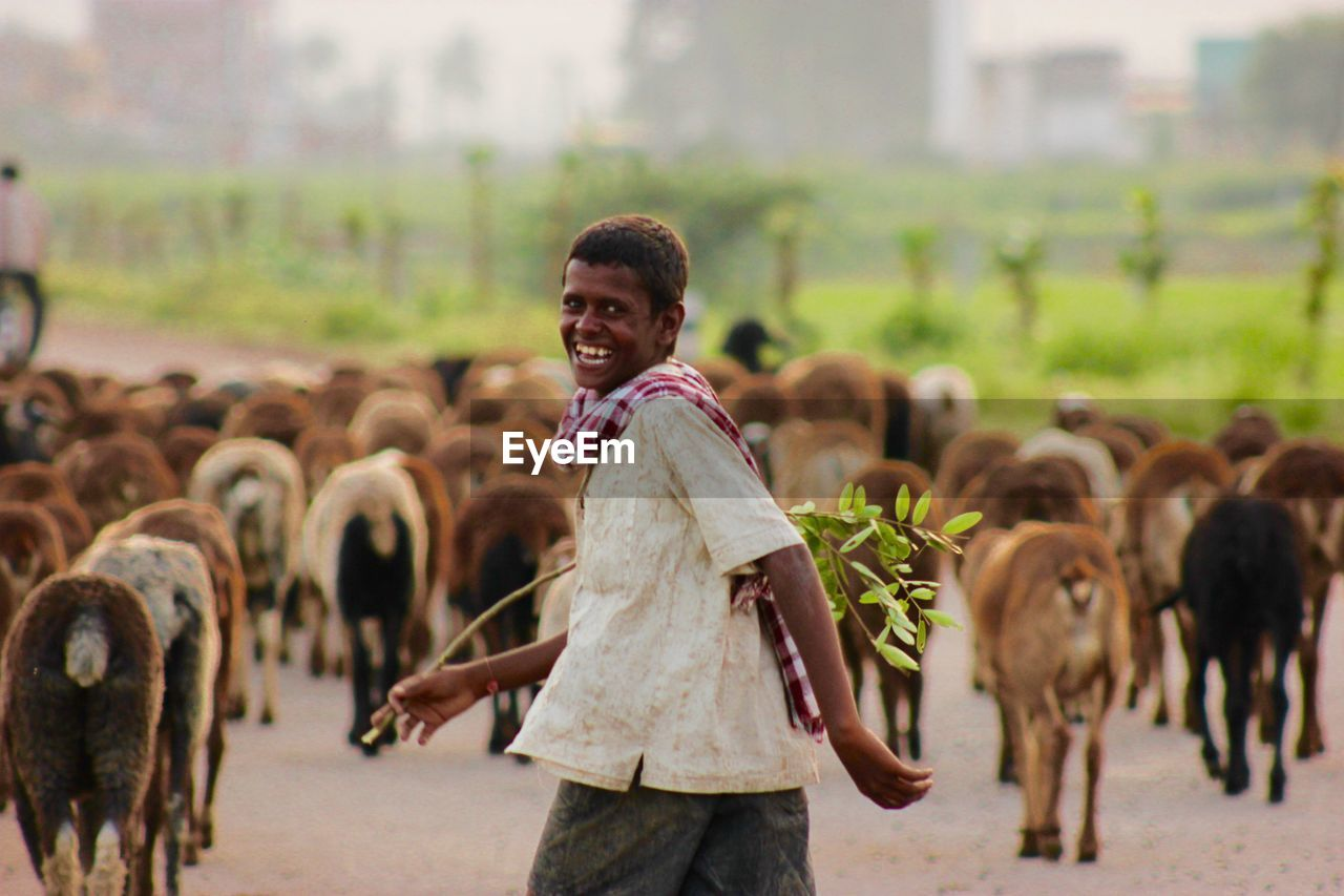 Young Farmer Looking At Camera