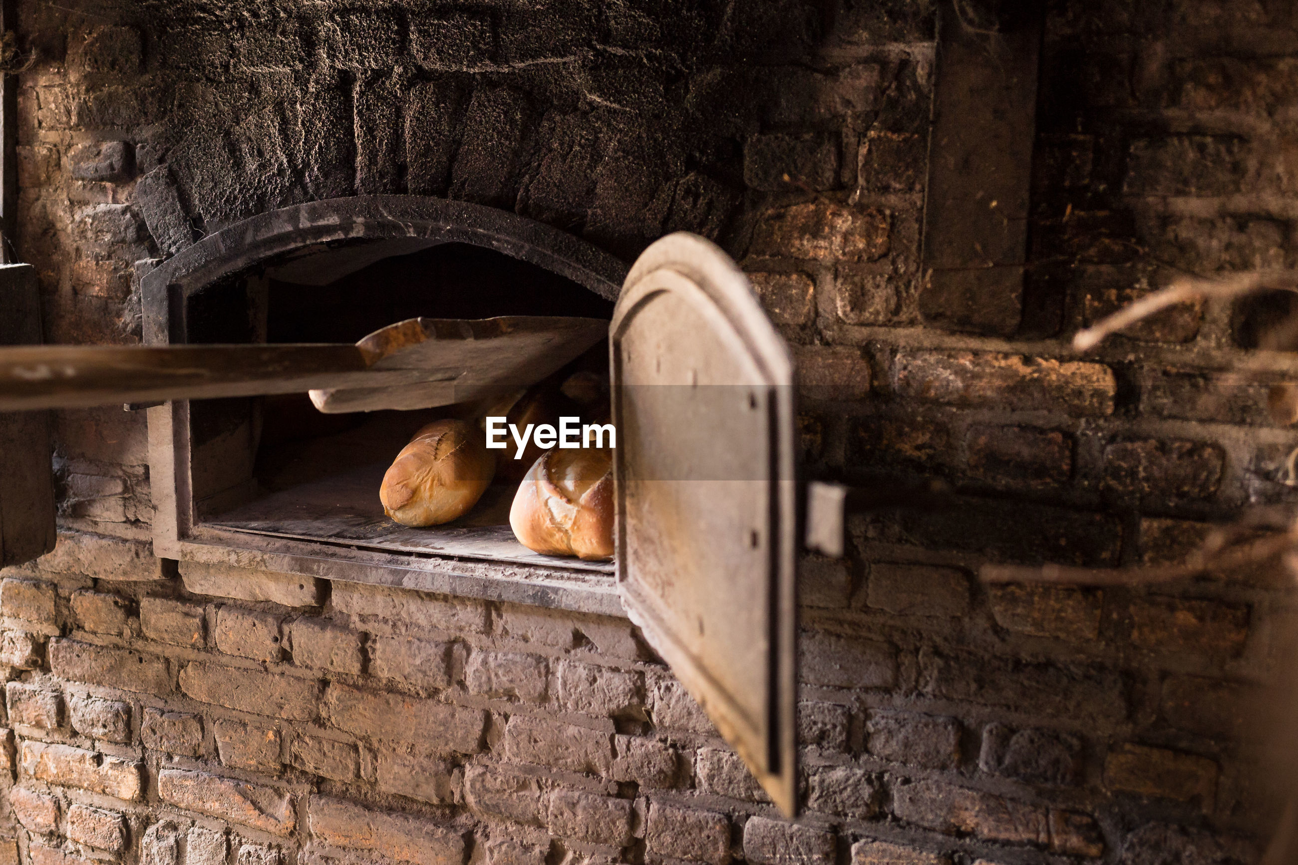 Close-up of a rustic oven