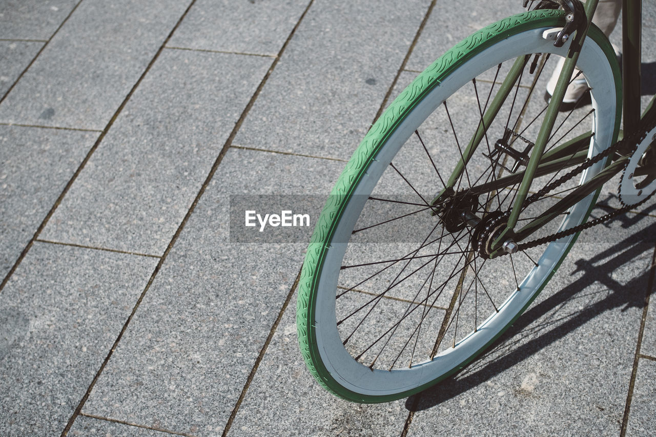 Cropped Bicycle Wheel