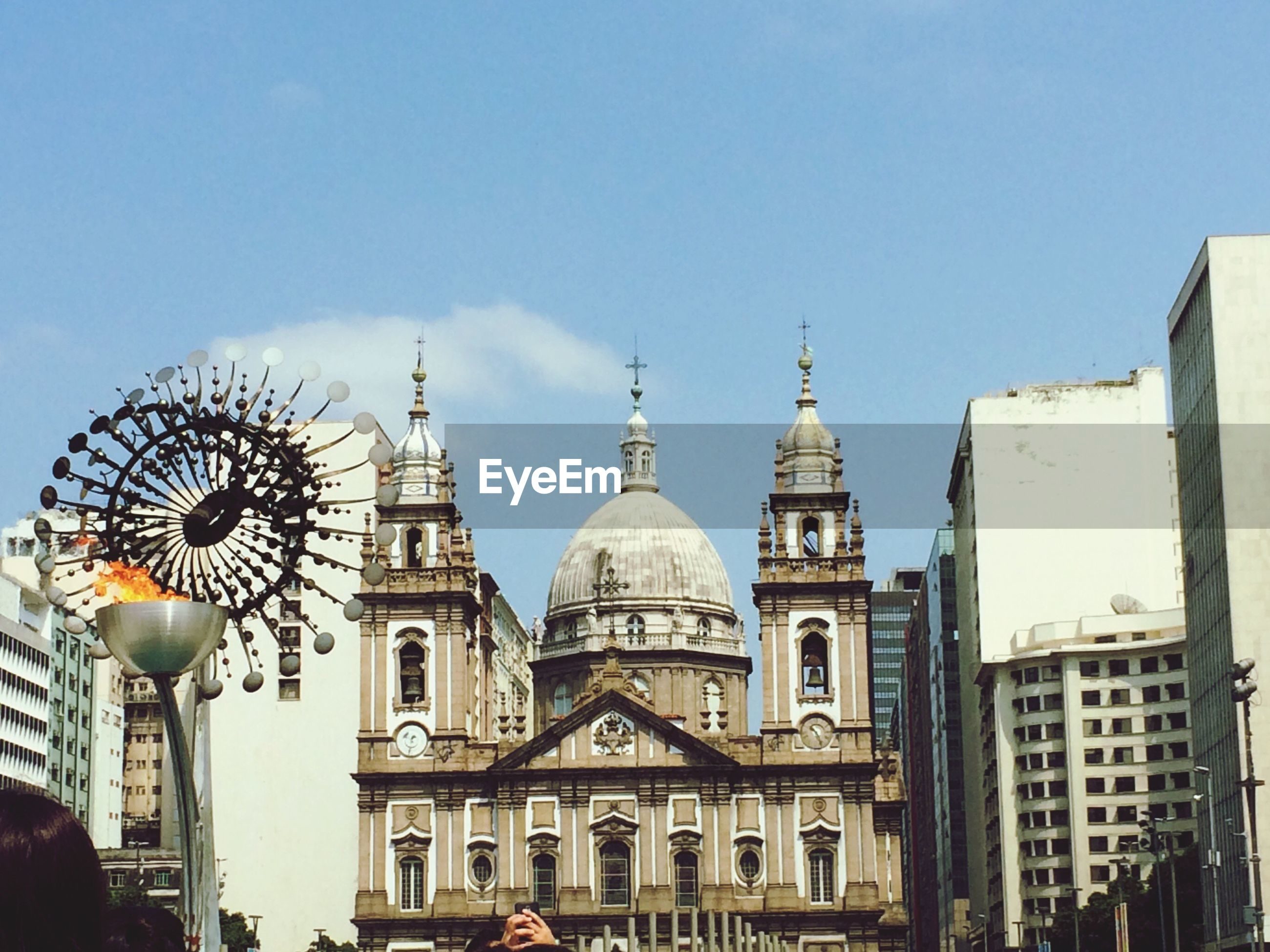 View of cathedral against clear sky