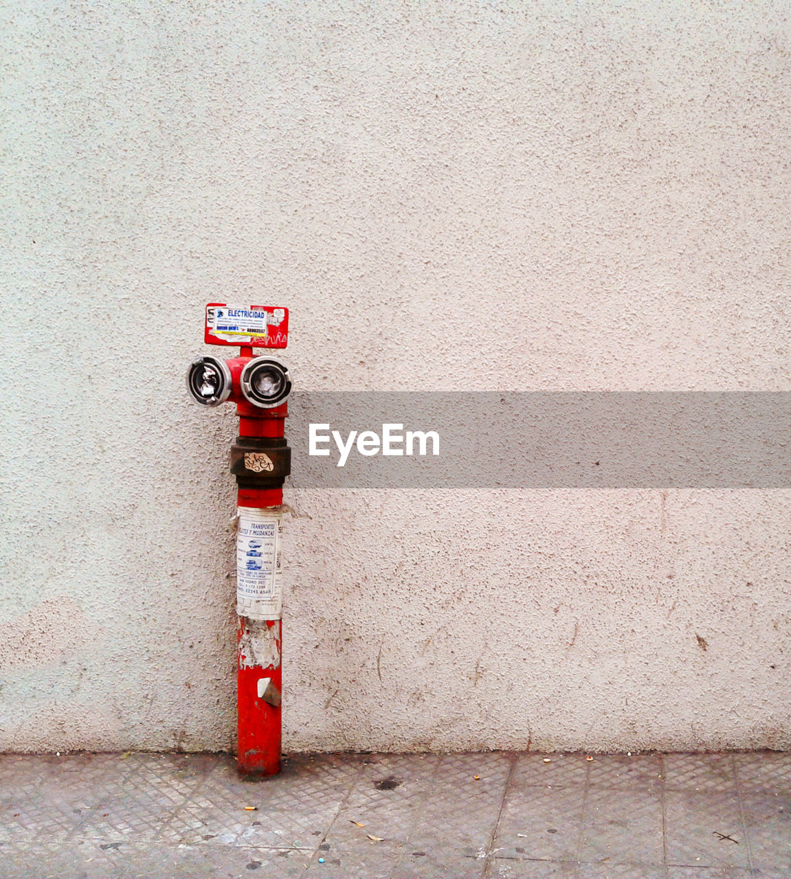 Fire Industrial Sprinkler System Against The Wall