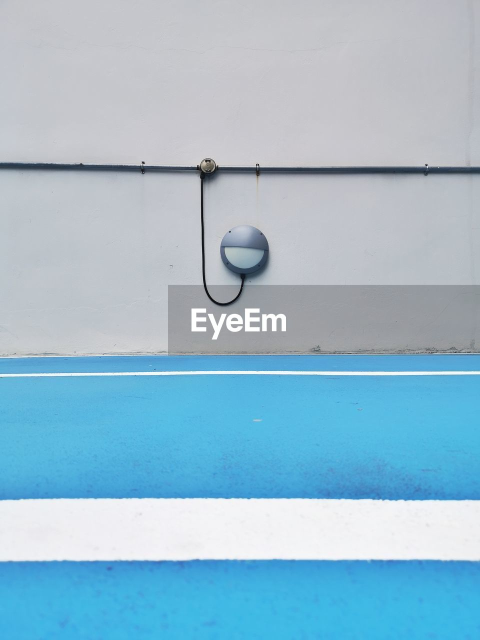 blue, no people, white color, day, outdoors, pool, close-up, swimming pool, shape, wall - building feature, black color, metal, water, copy space, design, full frame, railing, architecture, nature