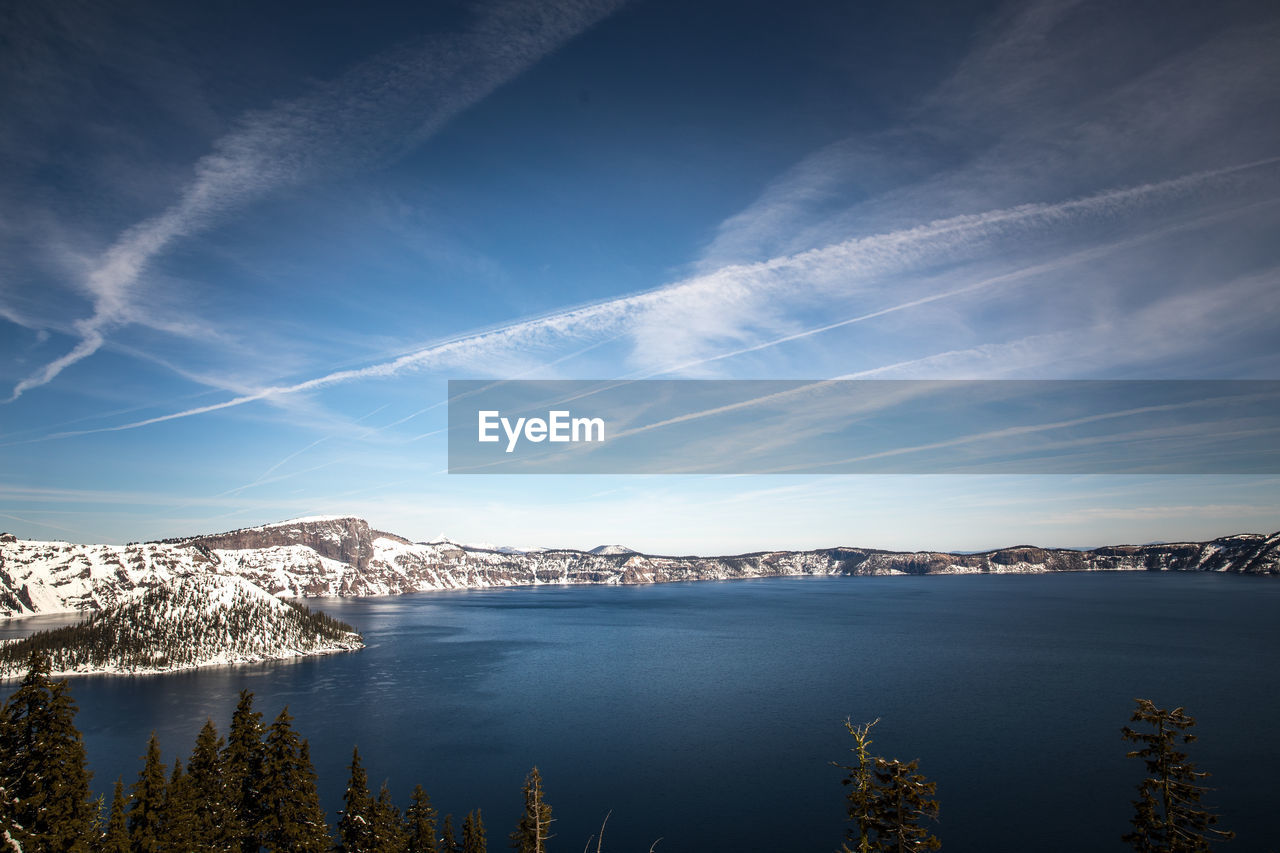Scenic View Of Lake Against Sky