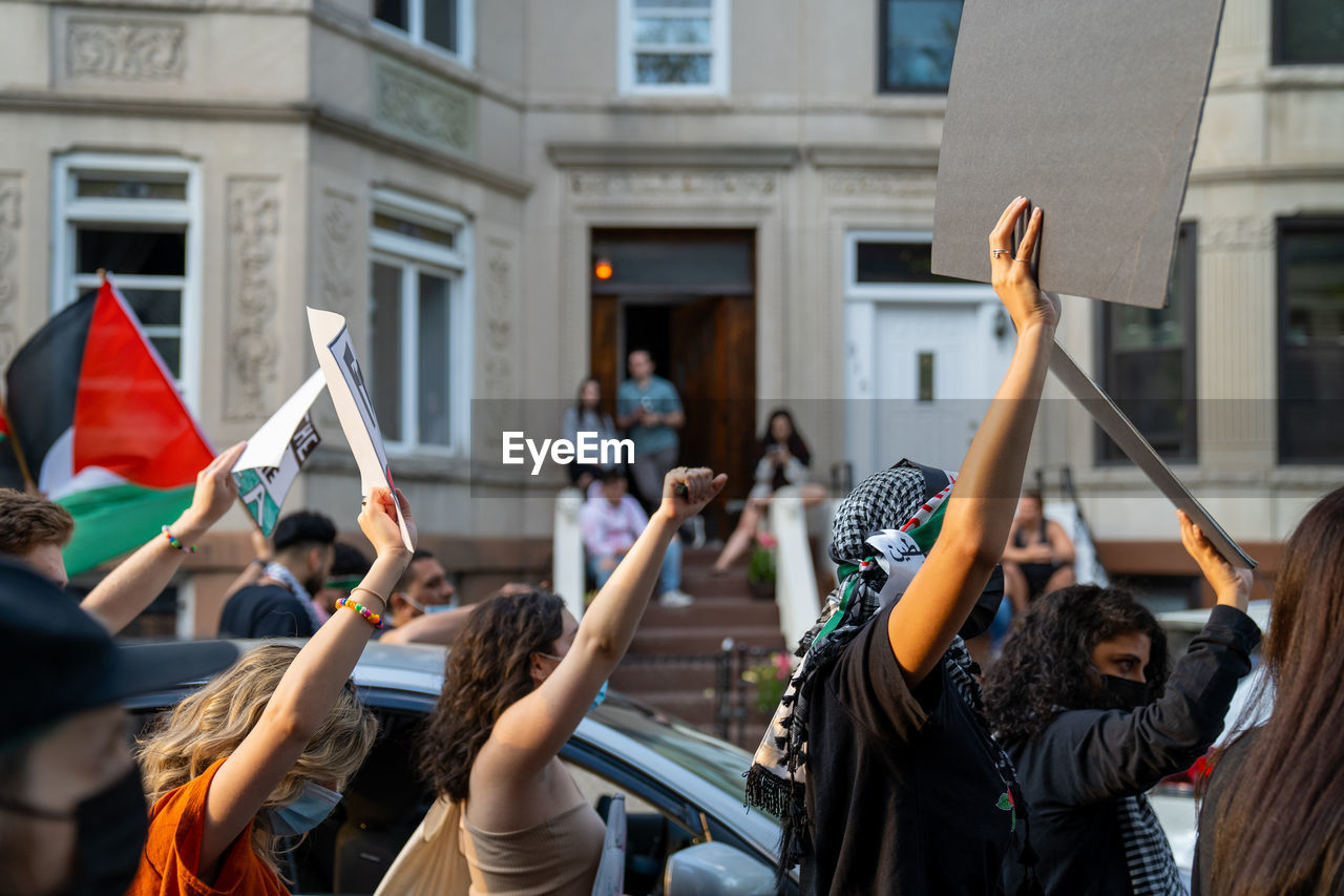 Palestinian march in bay ridge, brooklyn photographed 05/15/2021