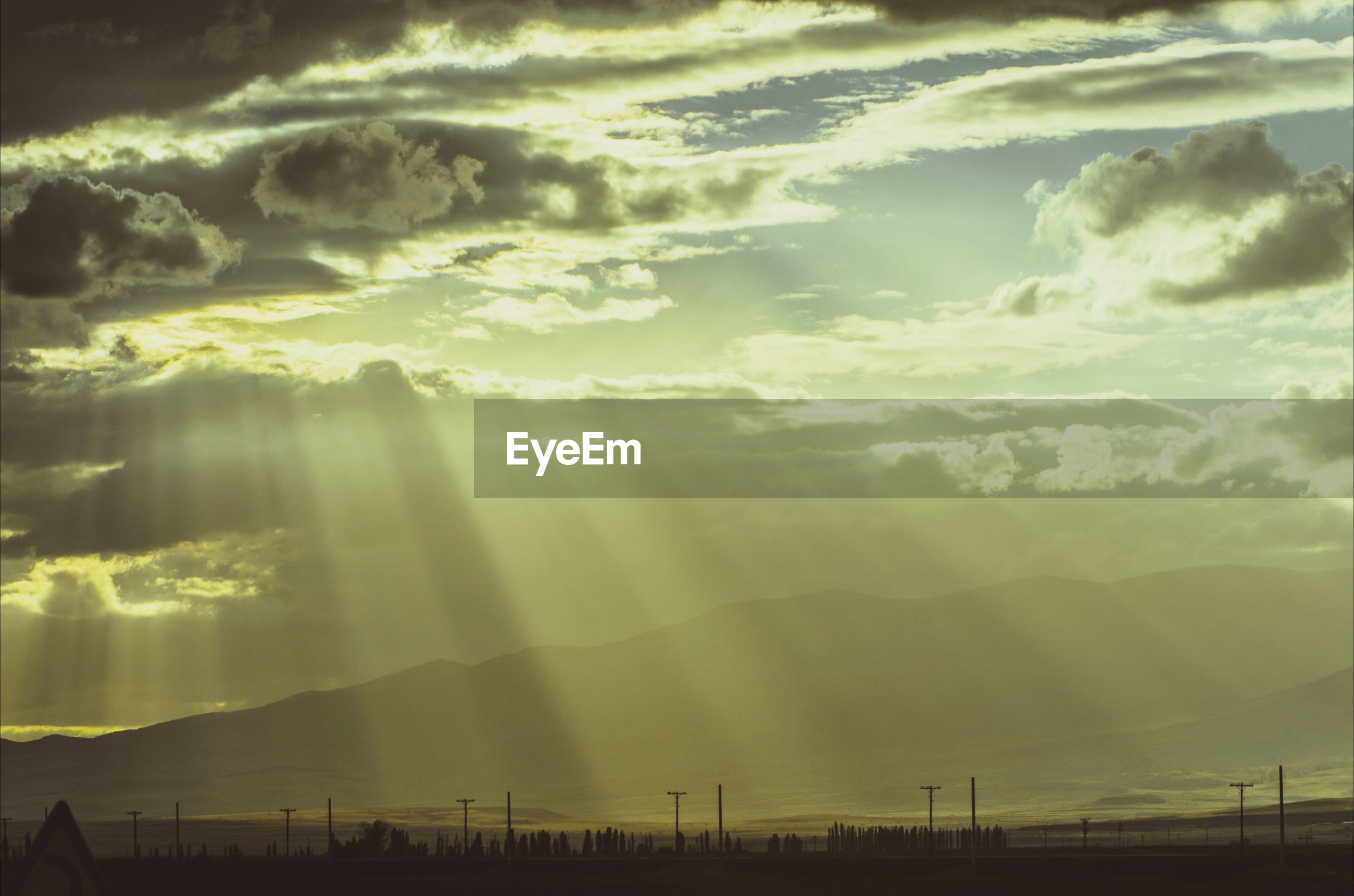 View of sunbeams
