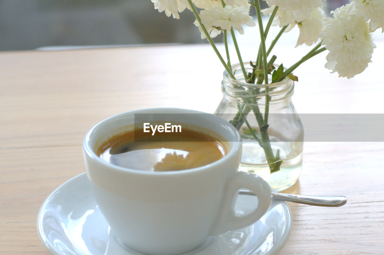 food and drink, drink, refreshment, table, freshness, no people, healthy eating, indoors, saucer, close-up, flower, herbal tea, food, day