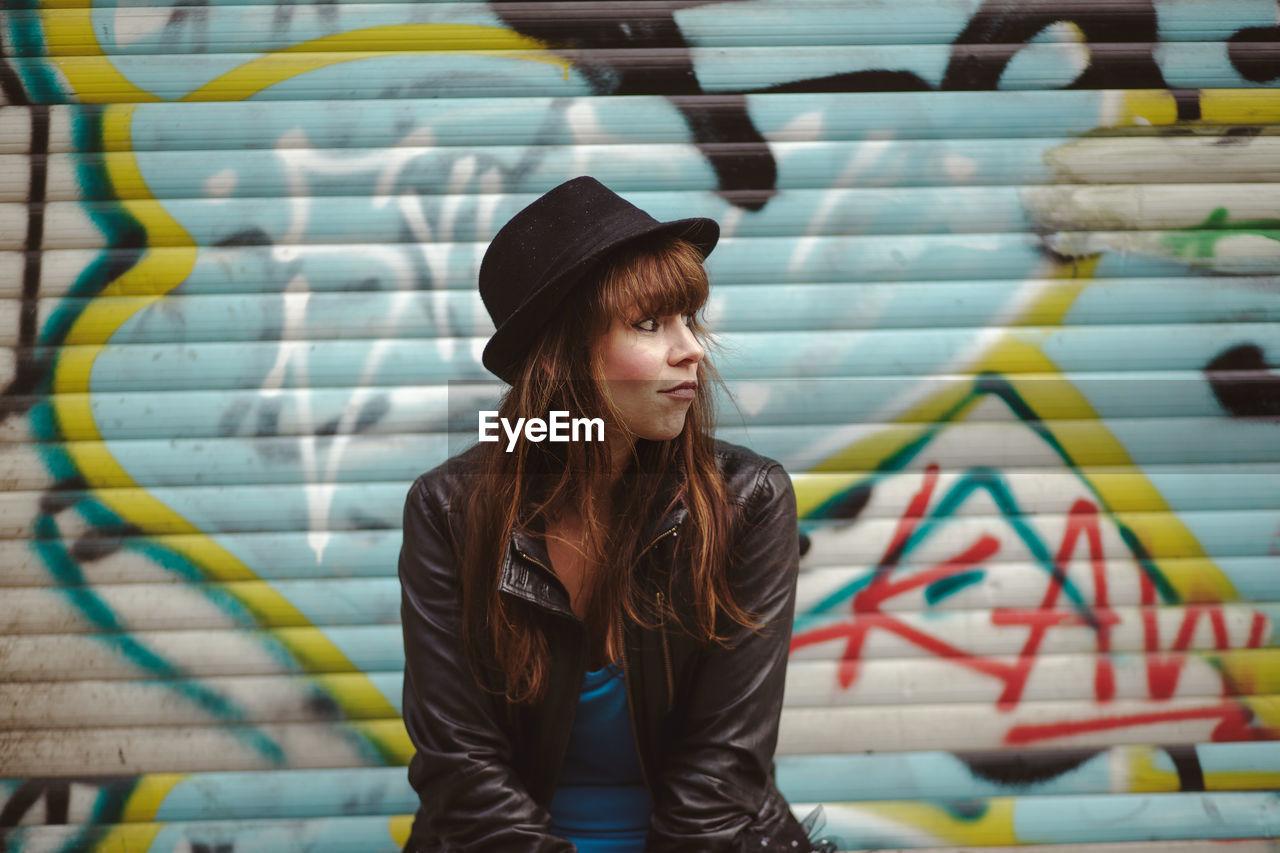 Cool Fashion Hat Stylish Woman Bangs Beautiful On Eyeem