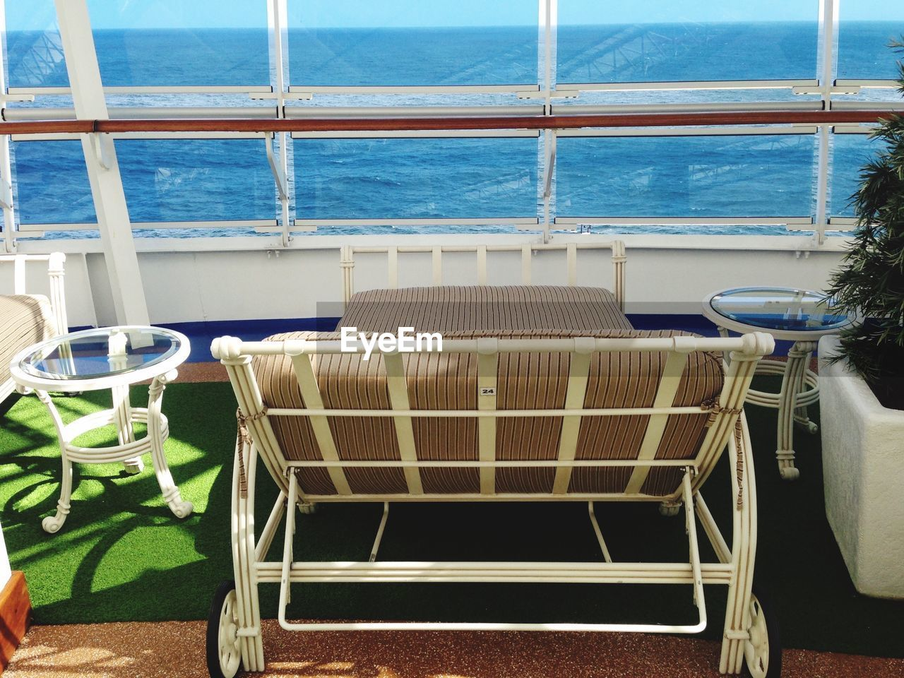 chair, sea, no people, water, transportation, day, nautical vessel, seat, nature, indoors, close-up