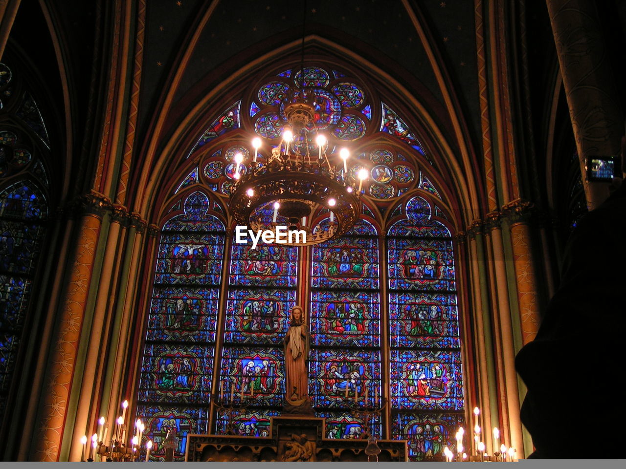 Cathédrale Notre-Dame de Paris Altar Candles Cathedral Catholic Spirituality Colorful Windows Day Illuminated Indoors  No People Stained Glass Window Travel Destinations