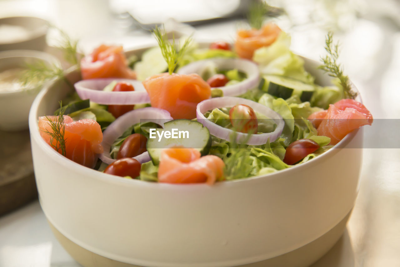 healthy eating, vegetable, food, food and drink, freshness, wellbeing, bowl, close-up, salad, indoors, selective focus, tomato, still life, ready-to-eat, fruit, no people, table, root vegetable, carrot, serving size, vegetarian food, temptation, crockery