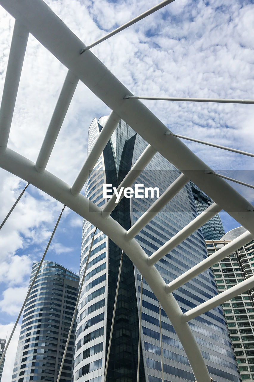architecture, low angle view, built structure, day, city, skyscraper, modern, no people, building exterior, sky, outdoors