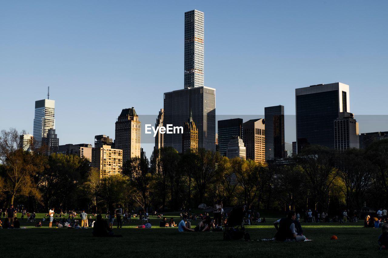 SKYSCRAPERS IN PARK