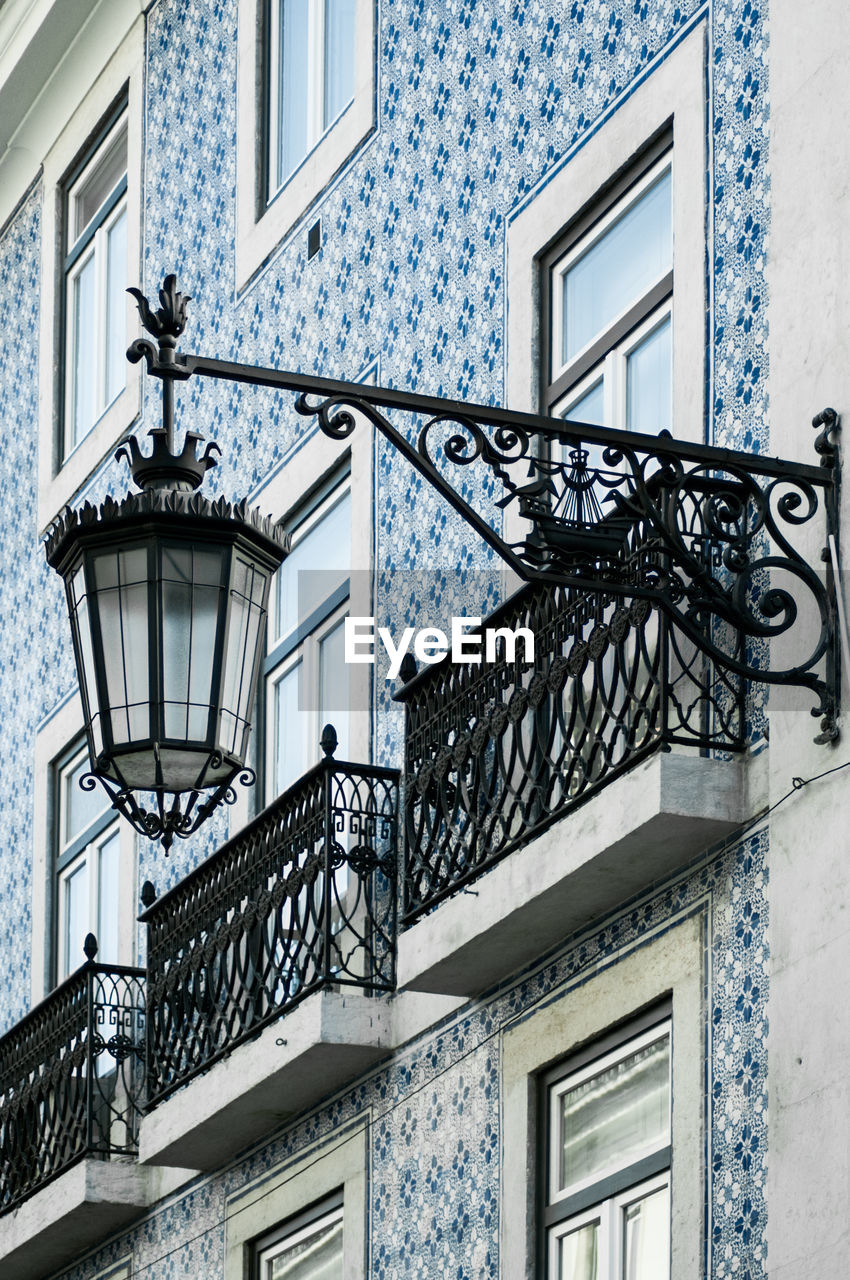 Low Angle View Of Gas Light On Building