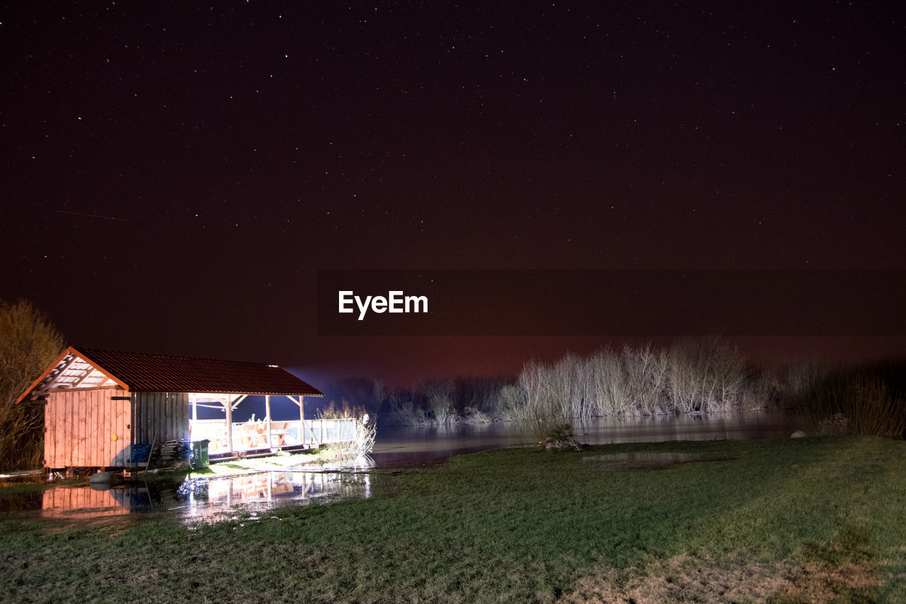 SCENIC VIEW OF FIELD AT NIGHT