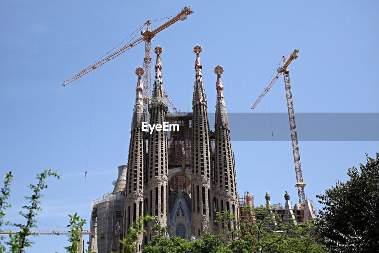 LOW ANGLE VIEW OF BUILT STRUCTURES