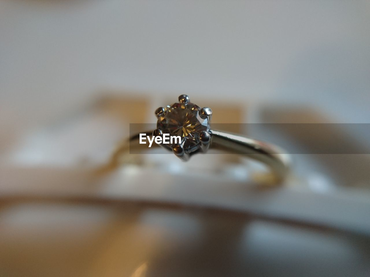 Close-up of silver ring