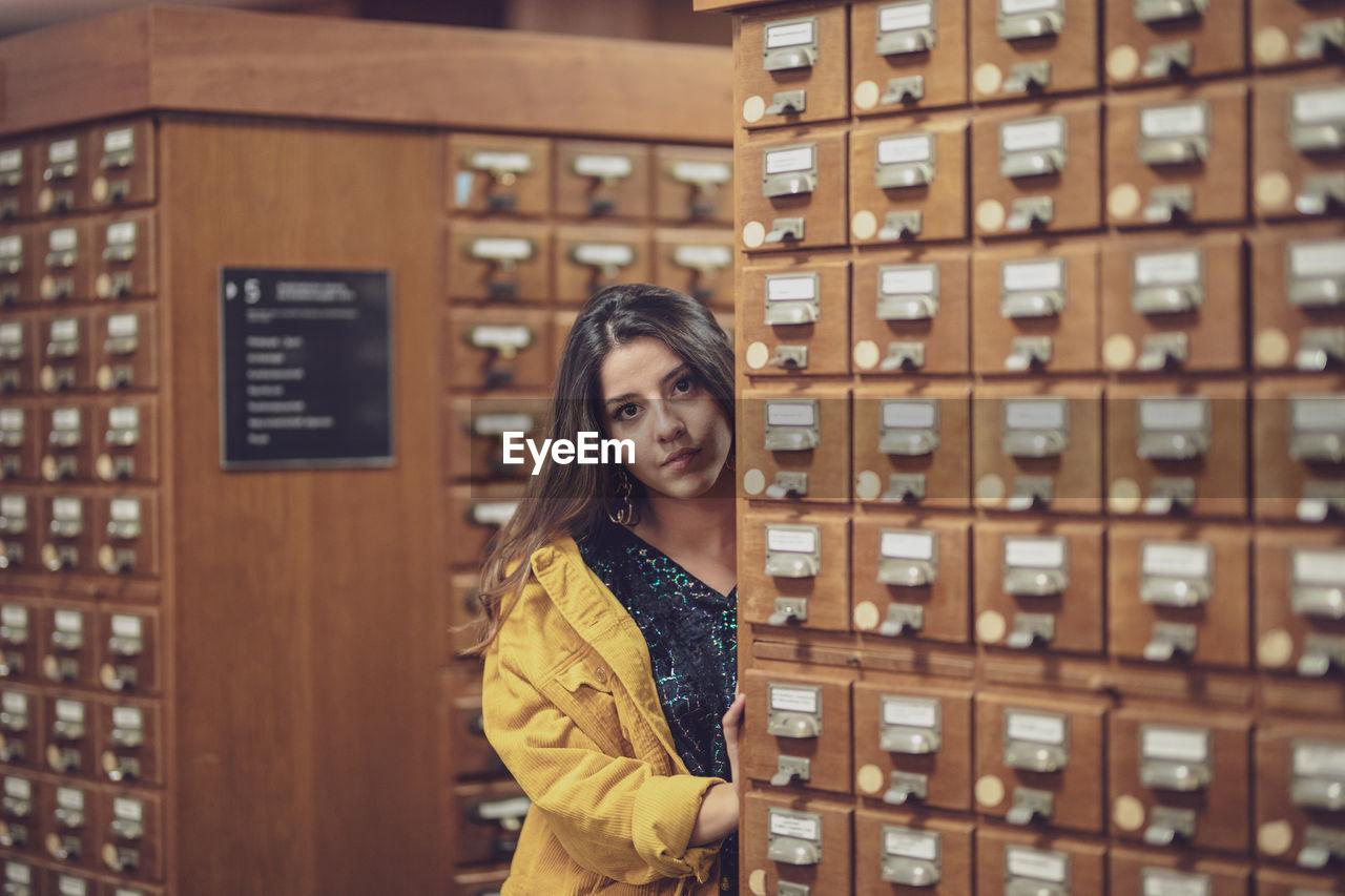 Portrait Of Young Woman In Locker Room