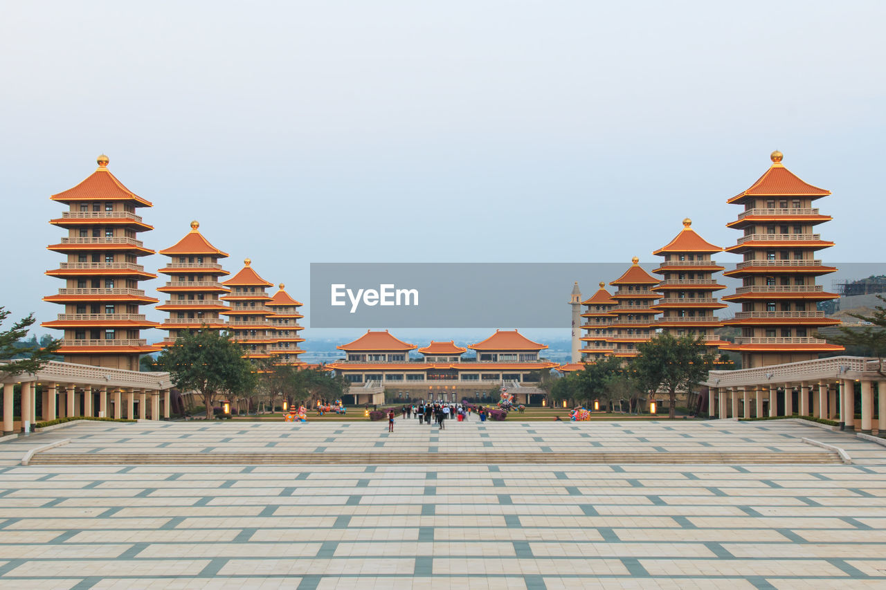 Temples At Fo Guang Shan Against Clear Sky