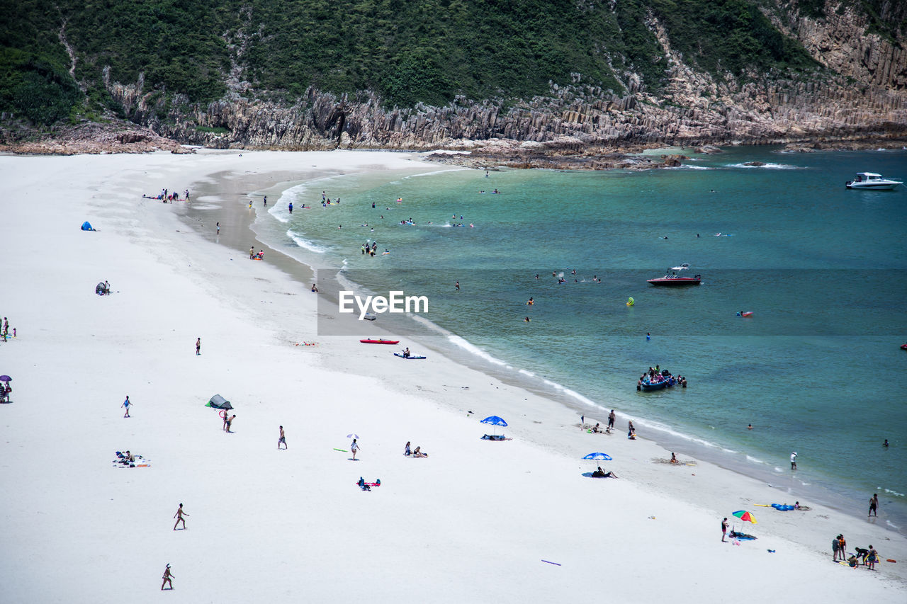 High Angle View Of Beach On Sunny Day