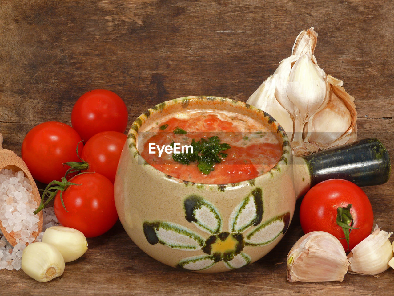 food, vegetable, food and drink, freshness, tomato, healthy eating, still life, wellbeing, indoors, wood - material, table, herb, ingredient, garlic, no people, spice, onion, fruit, close-up, cutting board, preparation