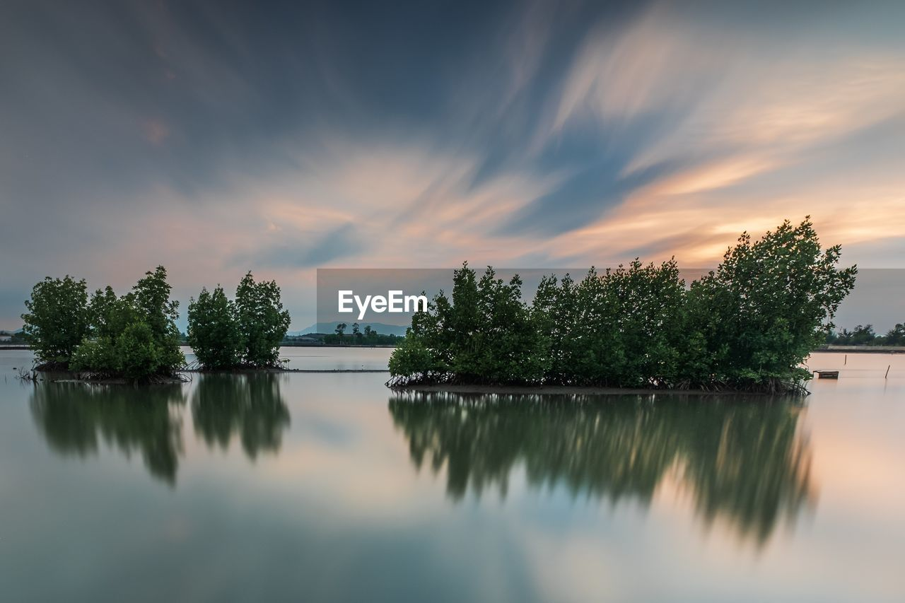 sky, water, tree, reflection, lake, cloud - sky, tranquility, beauty in nature, scenics - nature, plant, sunset, tranquil scene, nature, idyllic, waterfront, no people, non-urban scene, standing water, outdoors, reflection lake