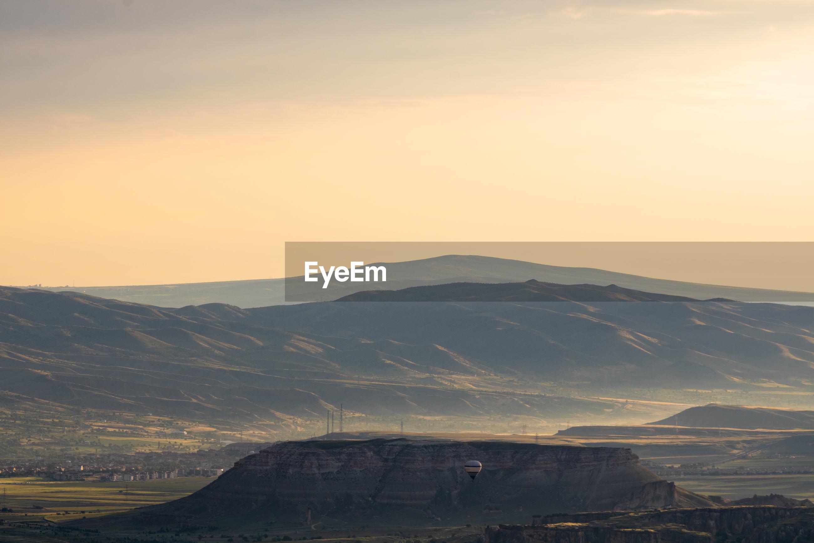 Cappadocia scene at sunrise
