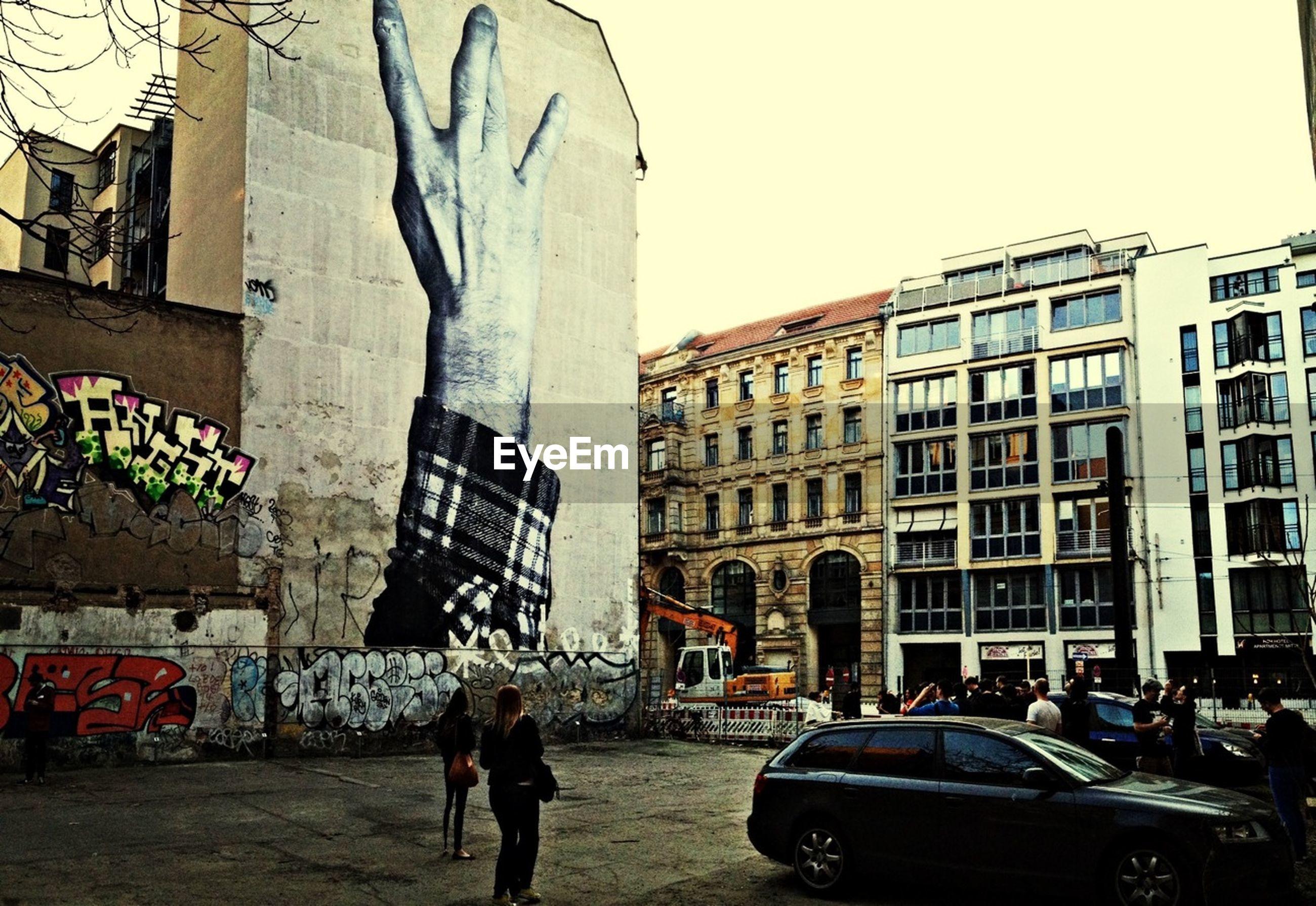 Graffiti on city building