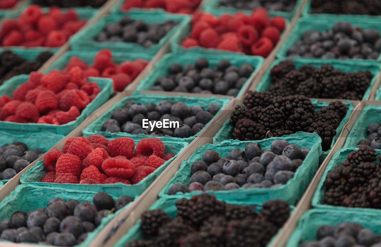 Full Frame Shot Of Berries For Sale At Market