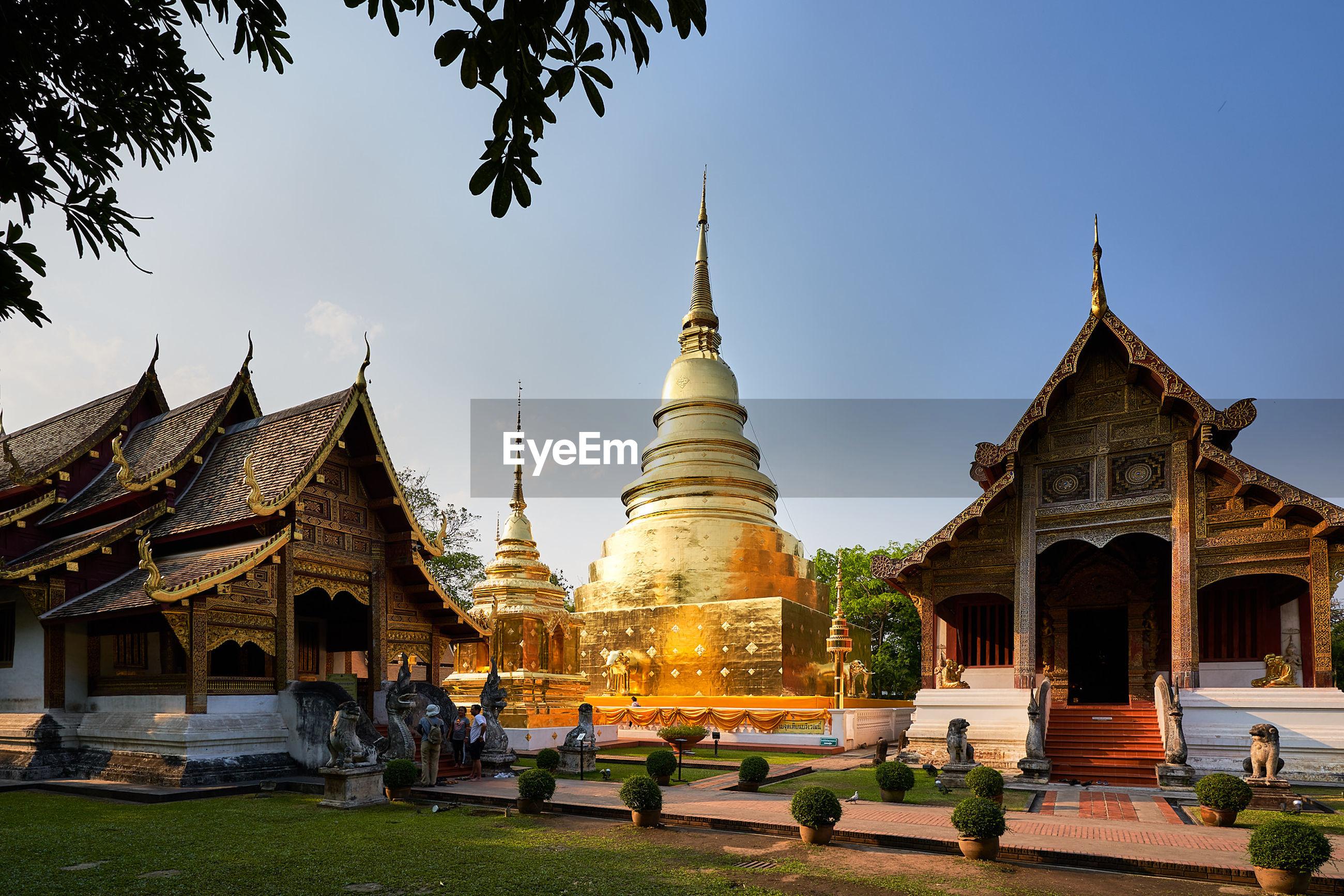 Historic temple against blue sky