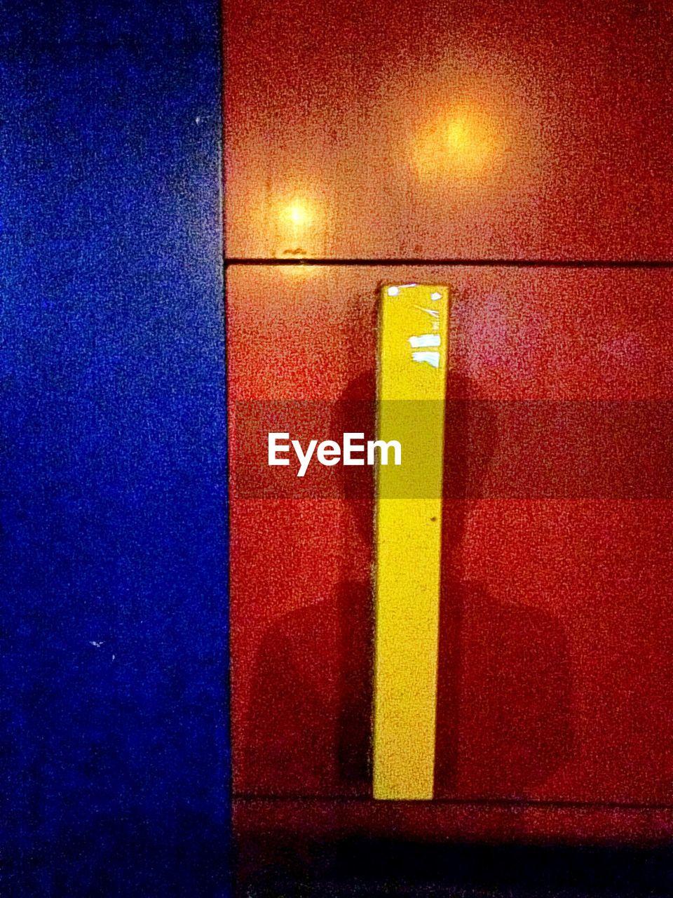 illuminated, indoors, guidance, yellow, no people, communication, close-up, day