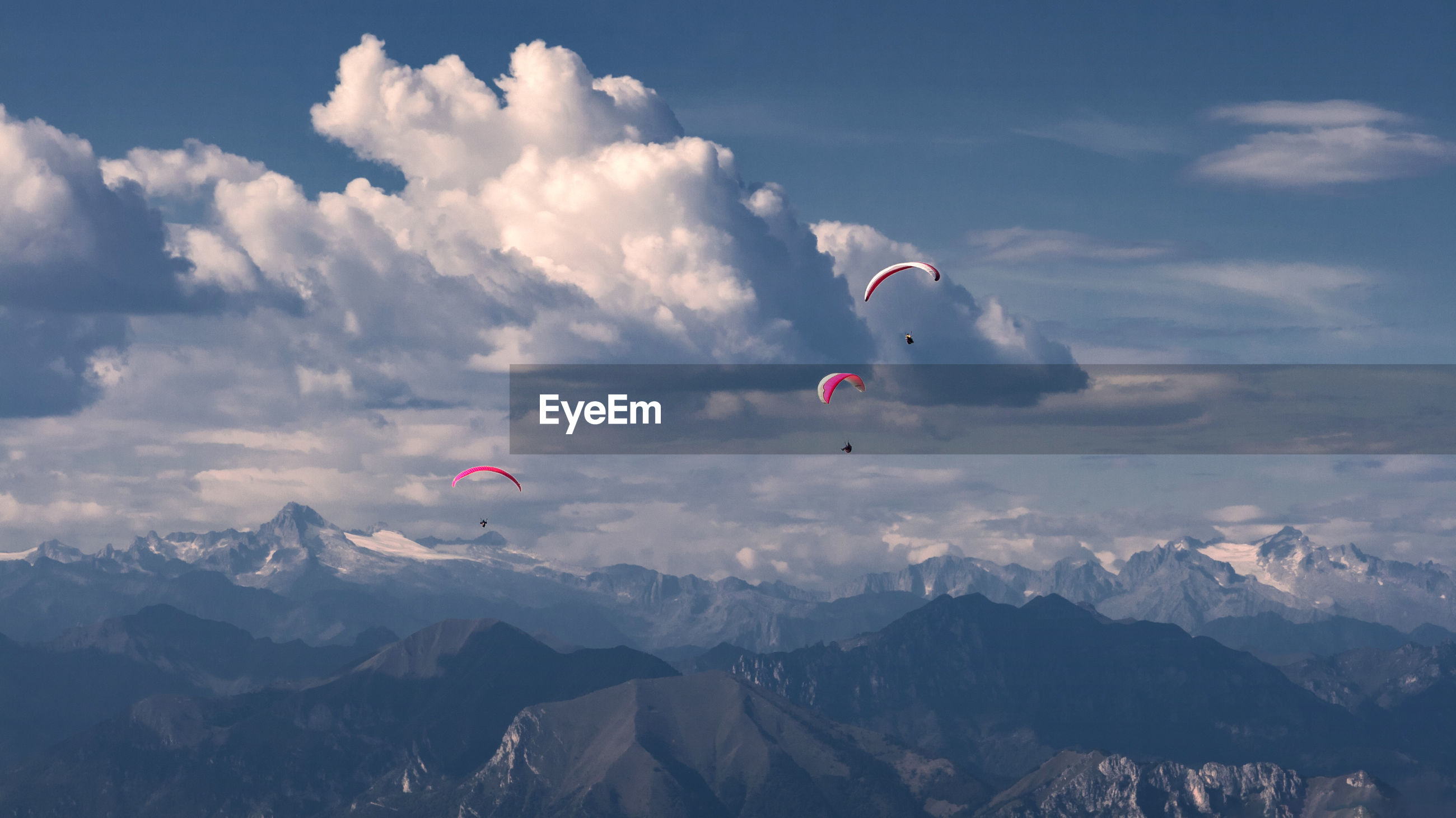 AERIAL VIEW OF MOUNTAINS AND SKY