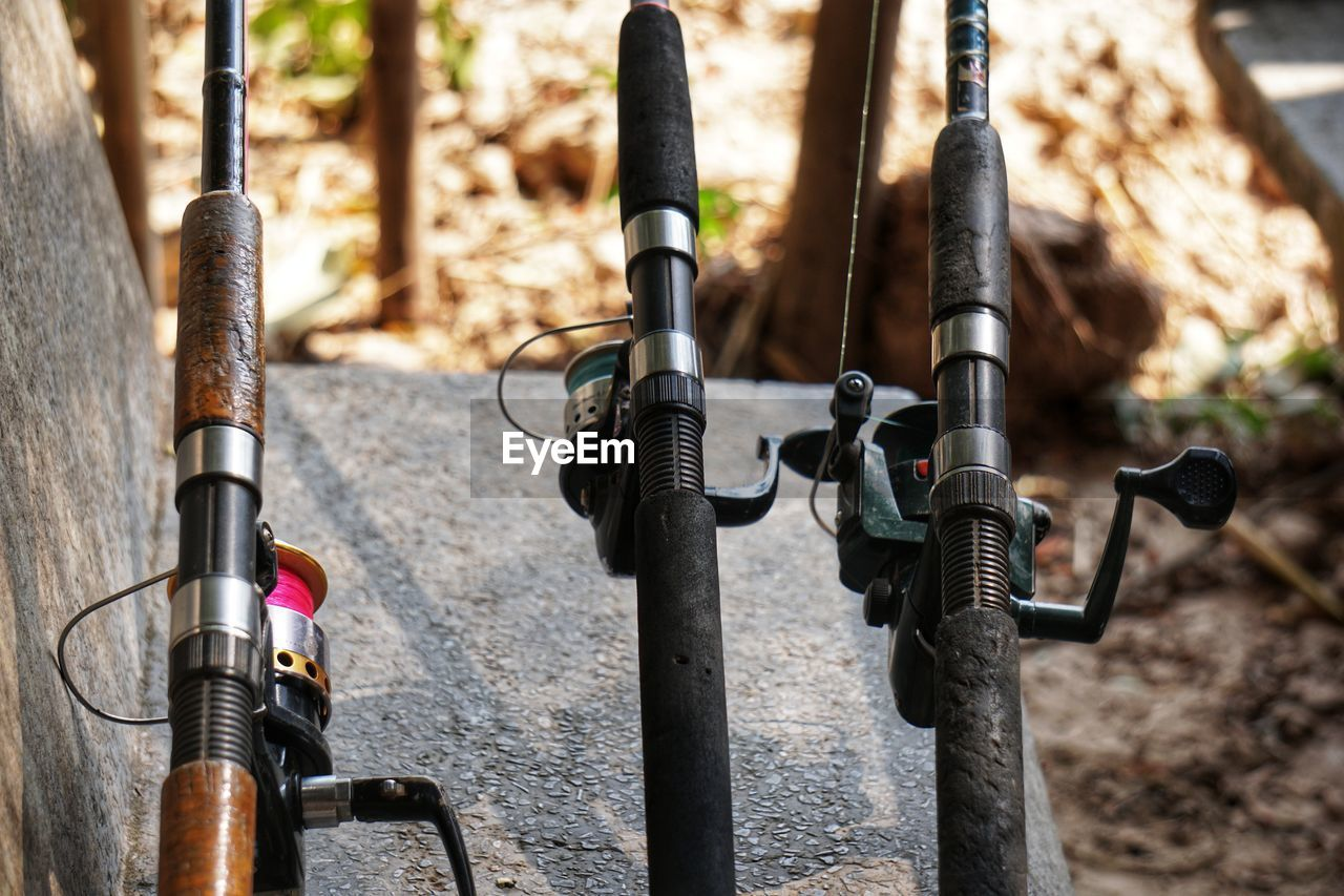Close-up of fishing rod