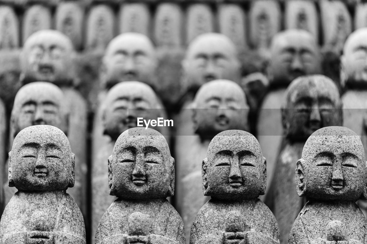 Full Frame Shot Of Jizo Statues At Hase Temple